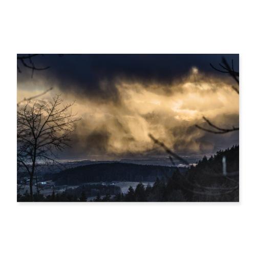 Winterregen - Poster 60x40 cm