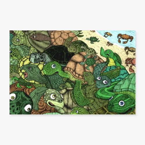 Crab Attack!! - Poster 60x40 cm