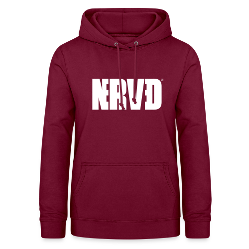 Official Nerved@ White Logotype - Women's Hoodie