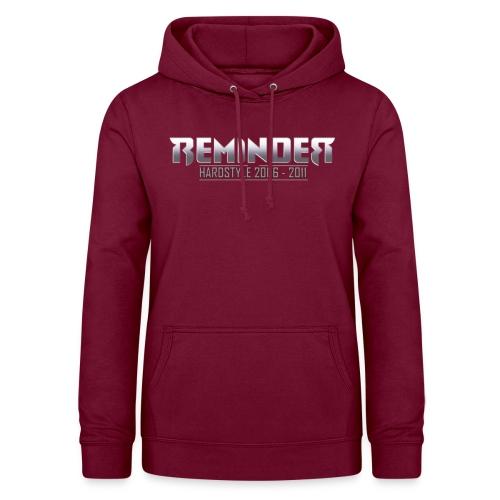 reminder logo 06 11 - Vrouwen hoodie