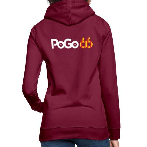 PoGo66 (texte seul) - Sweat à capuche Femme