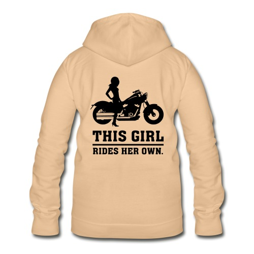 This Girl rides her own - Custom bike - Naisten huppari