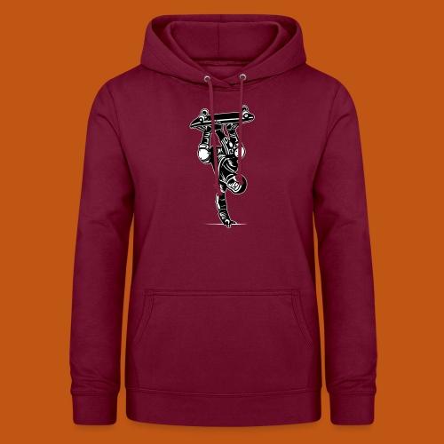 Skater / Skateboarder 02_schwarz weiß - Frauen Hoodie