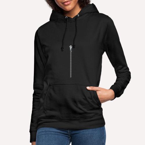 Zipper Funny Surprising T-shirt, Hoodie,Cap Print - Women's Hoodie