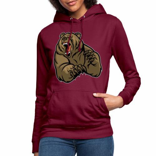 méchant grizzli - Sweat à capuche Femme