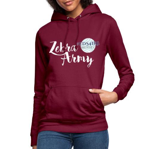 Zebra Army (white) - Women's Hoodie