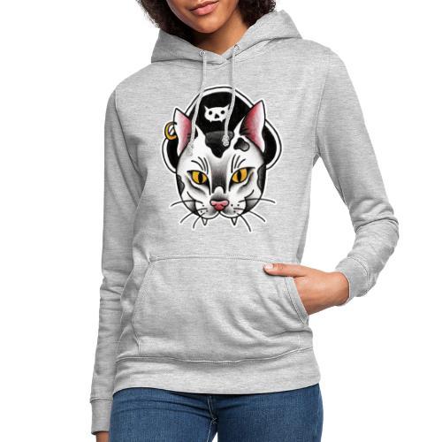 Piratecat - Felpa con cappuccio da donna