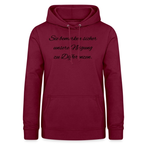 Differenzen Unstimmigkeit - Seven of Nine Spruch - Frauen Hoodie