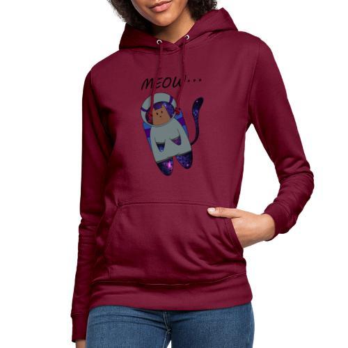 Meow - Sudadera con capucha para mujer