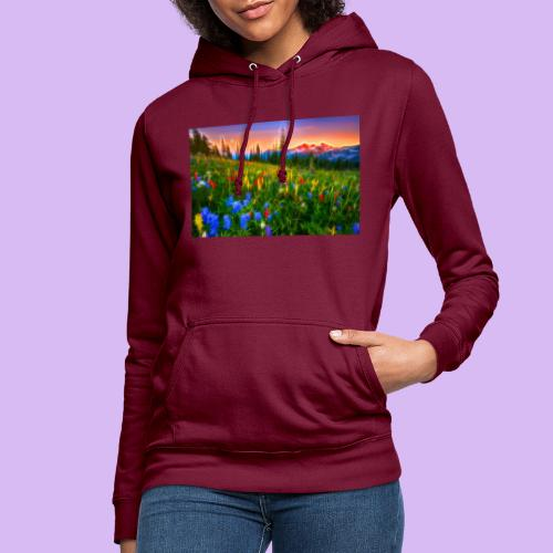 Bagliori in montagna - Felpa con cappuccio da donna