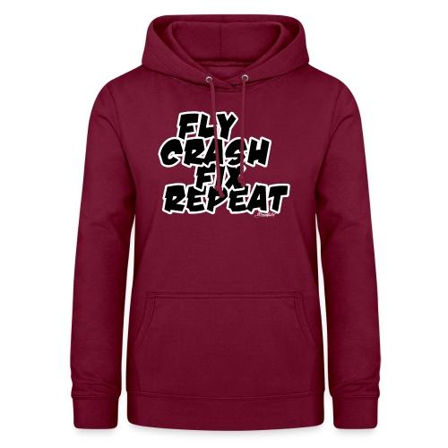 FlyCrashFixRepeat signed - Women's Hoodie