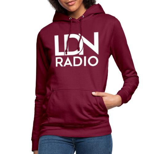 LDN Radio Logo white - Women's Hoodie