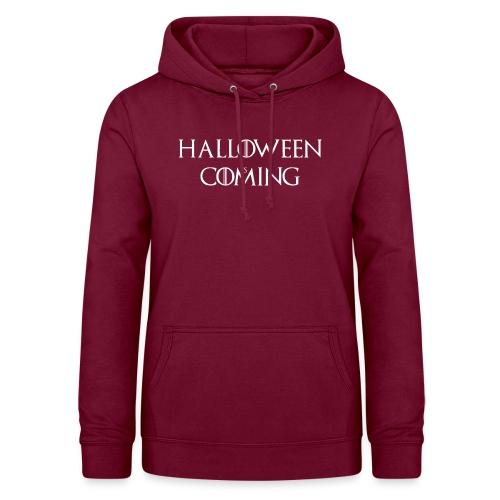 Halloween is coming - Sweat à capuche Femme
