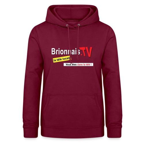 BTV logo shirt dos - Sweat à capuche Femme