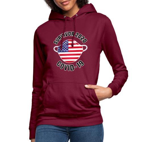 survivor covid-19 USA - Sudadera con capucha para mujer