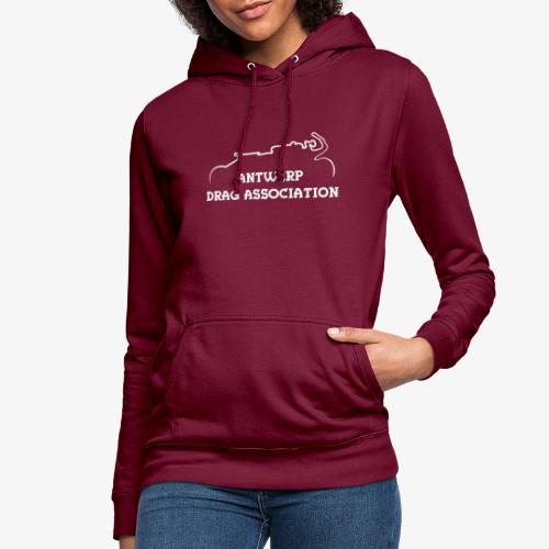 ADA DRAG Logo Petit Blanc - Sweat à capuche Femme