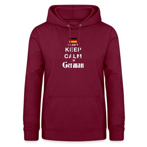 I CAN T KEEP CALM german - Frauen Hoodie