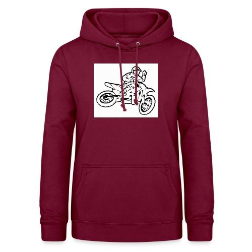moto l k - Sweat à capuche Femme