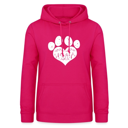 Vorschau: dog girl outdoor pawheart - Frauen Hoodie