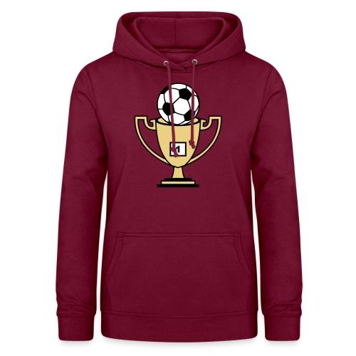 Pokal mit Fussball - Frauen Hoodie