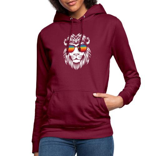 Lion Sunglas - Frauen Hoodie