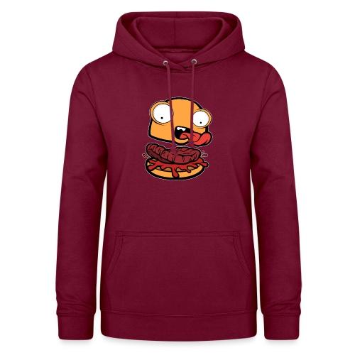Crazy Burger - Sudadera con capucha para mujer
