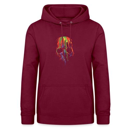 Skull and Colours - Sudadera con capucha para mujer
