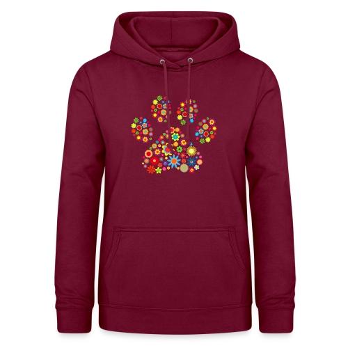 Vorschau: flower dog paw cat - Frauen Hoodie