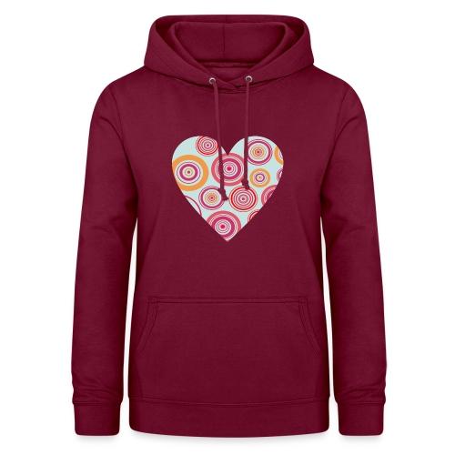 corazon1 - Sudadera con capucha para mujer