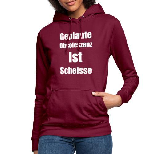 Obsoleszenz Weiss Schwarz - Frauen Hoodie