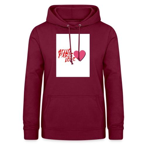 hello paris love rouge - Sweat à capuche Femme