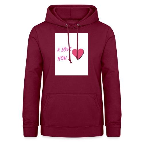 A LOVE YOU ROSE - Sweat à capuche Femme
