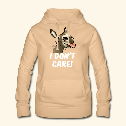 Ane I don't care! (texte blanc) - Sweat à capuche Femme