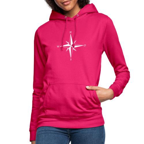 Kompas white - Dame hoodie