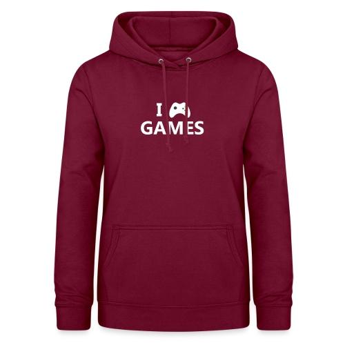 I Love Games 2 - Sudadera con capucha para mujer