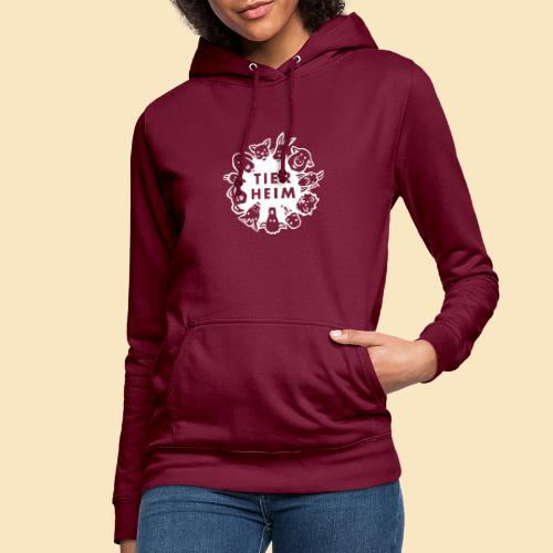 Tierheim Logo weiss - Frauen Hoodie