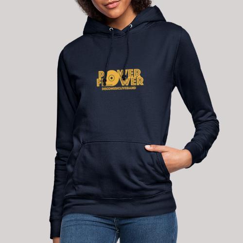 logo def PF 1colore giallo - Felpa con cappuccio da donna