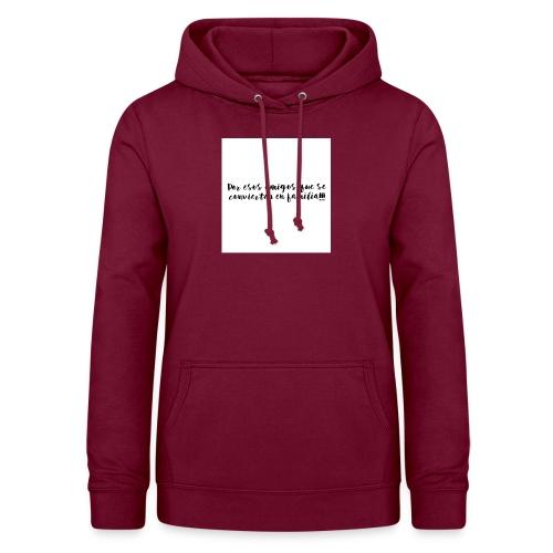 Dedicatoria amigos - Sudadera con capucha para mujer