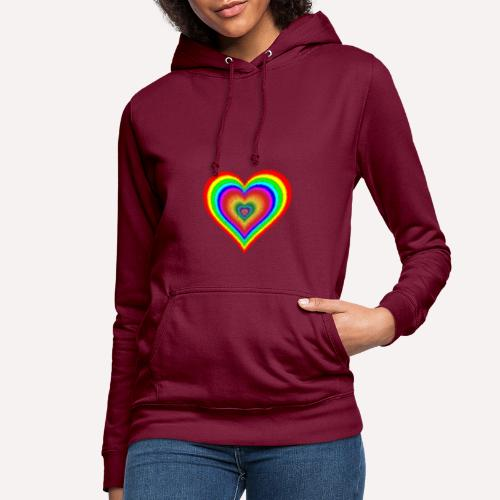 Heart In Hearts Print Design on T-shirt Apparel - Women's Hoodie