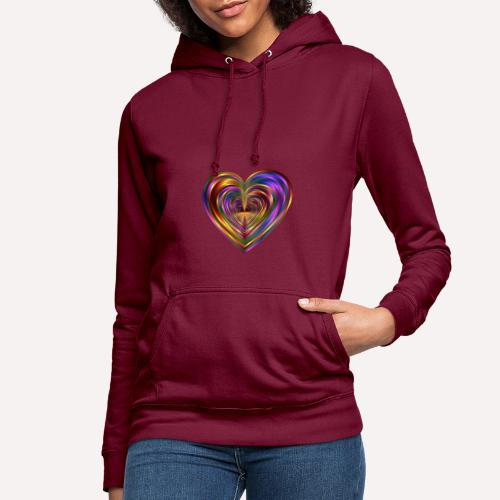 Colorful Love Heart Print T-shirts And Apparel - Women's Hoodie