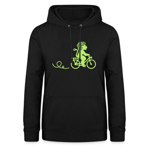 Züri-Leu beim Velofahren ohne Text - Frauen Hoodie