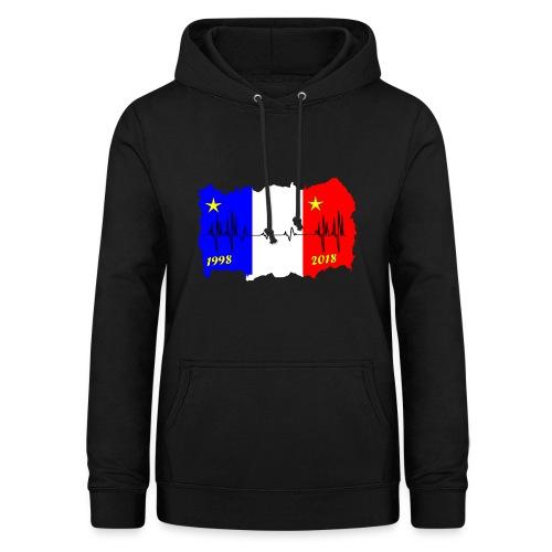 France 2018 coupe du monde les bleus - Sweat à capuche Femme
