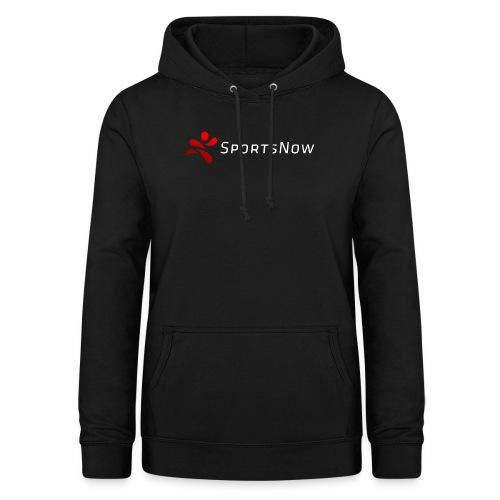 SportsNow-Logo mit weisser Schrift - Frauen Hoodie