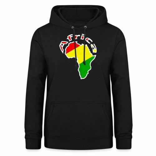 Afrika - rot gold grün - Frauen Hoodie