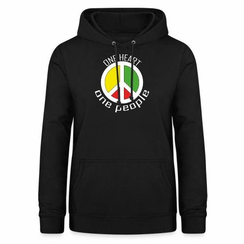 One Heart, One People - Peace - rot, gelb, grün - Frauen Hoodie