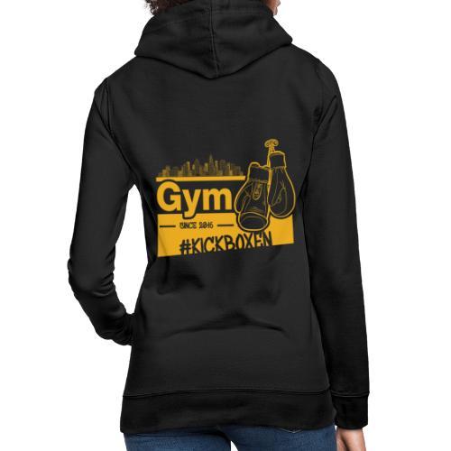 Gym Druckfarbe Orange - Frauen Hoodie