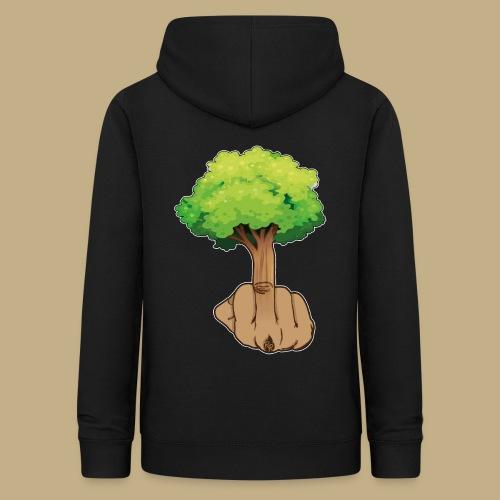 Mittelfingerbaum - Frauen Hoodie
