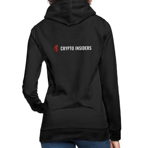 Crypto Insiders Logo groot 1 - Vrouwen hoodie