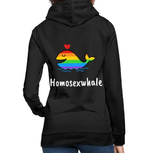 Ballenita Orgullo Gay | LGTBI Arco Iris - Sudadera con capucha para mujer