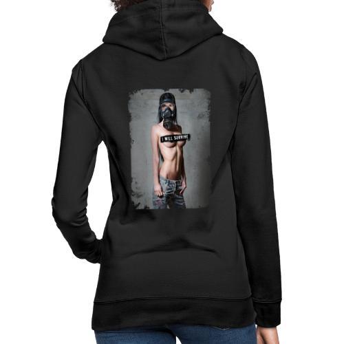 Sexy Girl mit Gasmaske - i will survive - Frauen Hoodie